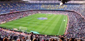 Besuch im Camp Nou während des Trainingslagers in Barcelona